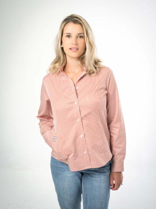 Damenhemd mit Knopfleiste in versch. Farben