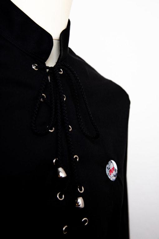 Damenhemd mit Kordelverschluss in versch. Farben
