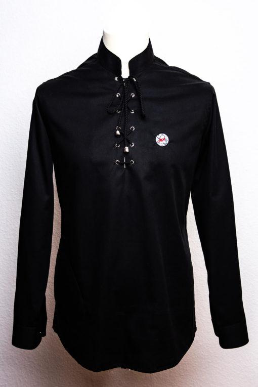 Herrenhemd mit Kordelverschluss in versch. Farben